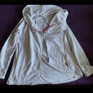 Striped blazer with zipper